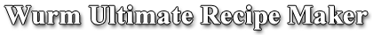 Wurm Ultimate Recipe Maker logo